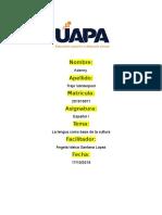 Tarea II - Español I, Adenny Trejo Vanderpool