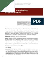 Federalismo, municipalismo e direitos humanos