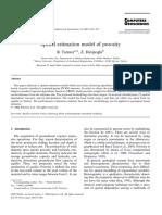Spatial estimation model of porosity