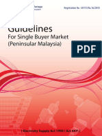 Guidelines for Single Buyer Market (Peninsular Malaysia)