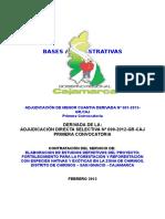 Bases AMC 001-2013. DERIV. ADS Nº 099-2012, Forestac. y Reforest