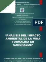 Análisis Del Impacto Ambiental de La Mina Turmalina en Canchaque