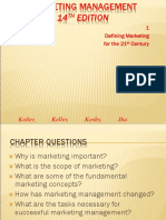 MBA Chapter 1 Defining Marketing for the 21st Century Marketing Management (13th Edition)