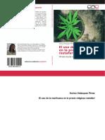 Libro. Uso de La Marihuana en Praxis Rasta. Karina Velázquez.978!3!659-65521-0