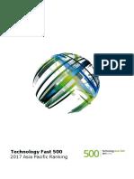 2017 Tech Fast500 Apac Ranking Report