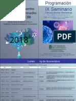 Programación IX Seminario Ciencias Básicas Biomedicas 2018-2