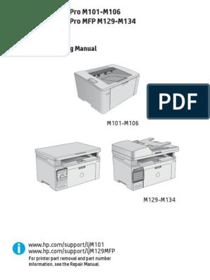 laserjet pro m101-m106 m129 m134 troubleshooting manual pdf