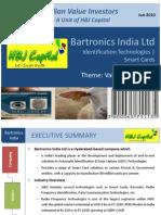 Bartronics India Ltd - Value Pick (June 2010) From Indian Value Investors (IVI) Unit of HBJ Capital[1]
