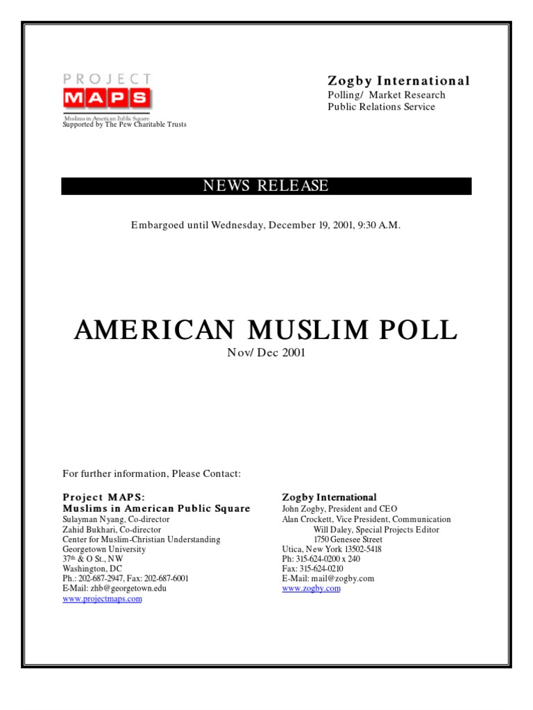 American Muslim Polling   Islam In The United States   Pemerintahan ...