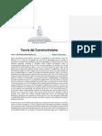 Teoría del constructivismo. Ensayo pedagogía