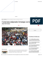 Caravana Migrante Irrumpe en Terriotorio Mexicano - La Jornada