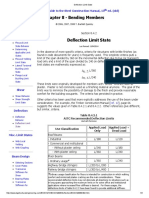 Deflection Limit State