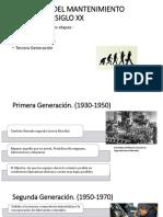 Evolución Del Mantenimiento Durante El Siglo Xx