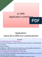 La VAN Application Numerique