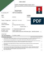 Kartu Registrasi Mas Doni 2018