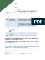 idd analysis worksheet