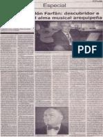 Benigno Ballón Farfán, descubridor e intérprete del alma musical arequipeña