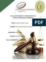 Monografía Acto Jurídico