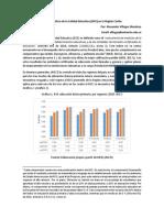 Índice Sintético de la Calidad Educativa (ISCE) en la región Caribe