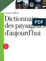Mdp Dictionnaire Des Paysagistes d Aujourdhui
