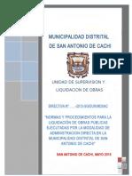 DIRECTIVA LIQUIDACION DE OBRA