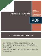 Los Principios Administrativos Generales
