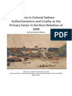 The Rum Rebellion of 1808