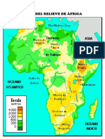Mapa Del Relieve de África