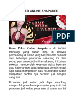 Game Poker Online Anapoker