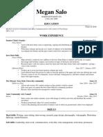 megan salo resume