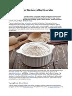 Tepung Beras Dan Manfaatnya Bagi Kesehatan
