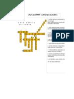 Crucigrama Comunicaciones