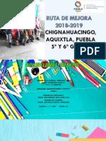 Ruta de Mejora Ciclo Escolar 2018-2019