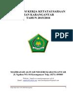 Program Kerja Tata Usaha SMK Ma'Arif NU 1 Jatinegara