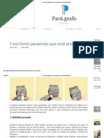 5 Escritores Paraenses Que Você Precisa Ler _ Pará.grafo Editora