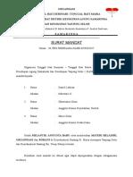 Surat Mandat Tarakan -Tanjung
