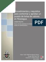 Procedimiento y Requisitos Para Conformar y Aprobar Un Puesto de Bolsa de Valores