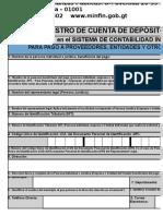 Formulario de Inventario de Cuentas FINANZAS