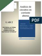 Informe LAB 1 - Circuito Serie y Paralelo ACc