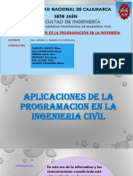 Aplicaciones de La Programación en La Ingeniería Civil. (1)