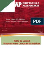 SEMANA 4 LOGICA Y ARGUMENTACION JURIDICA.pdf TABLA DE LA VERDAD.pdf