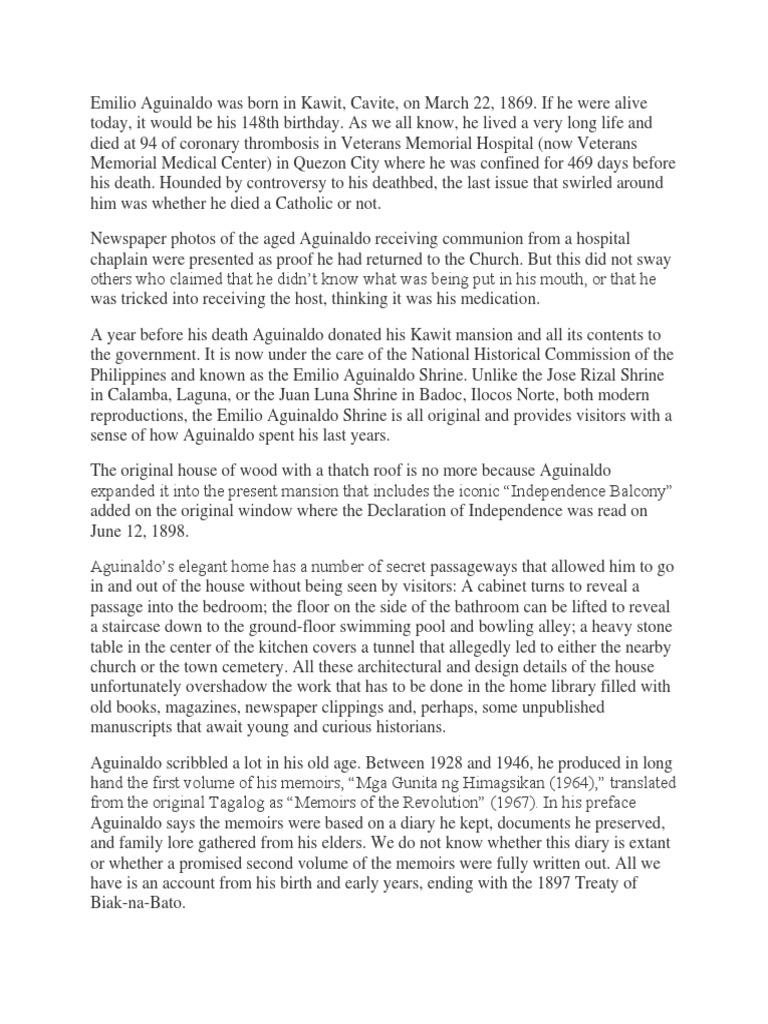 RIPH - Bio Emilio Aguinaldo   Philippines   Politics