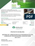 Sistema de Lubricación Electro-hidráulico en Cabezales Procesadores Waratah 622b