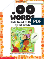Scholastic 100 Vocabulary Words 1 Grade
