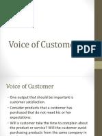 Voice of Customer(Define Phase)