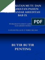 Manajemen Mutu Dan Keselamatan Pasien BAB IX