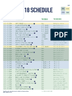 2018 FFF Revised schedule