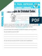 Ficha Viajes de Cristobal Colon Para Cuarto de Primaria