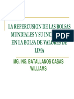 La Repercusion de Las Bolsas Mundiales y Su Incidencia en La Bolsa de Lima