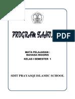 Prota Bahasa Inggris Kelas 1 - 3 Print